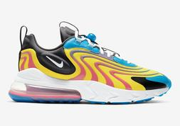 Nike Air Max 270 React ENG CD0113-400 Yellow Blue Black Whit
