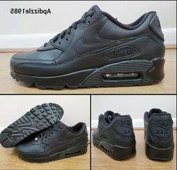 🔥 Nike Air Max 90 Leather Black Running Shoes 302519-001