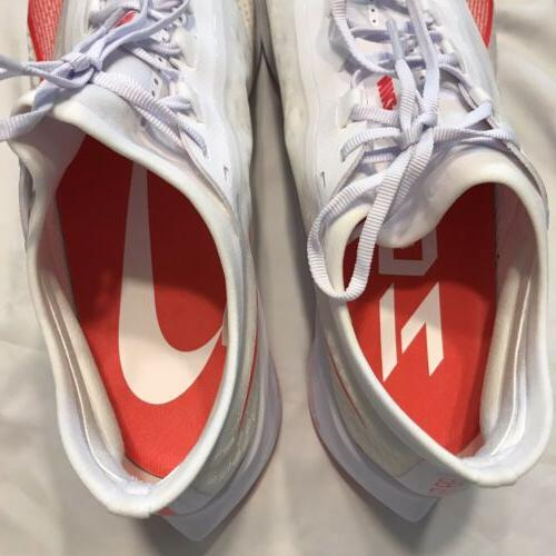 Nike Zoom Fly 3 AT8240 101 White Red Sz 11