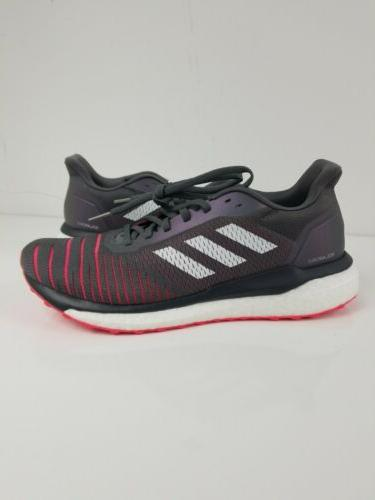 Adidas Mens Gray Shock Red Running Shoes Multiple Sizes