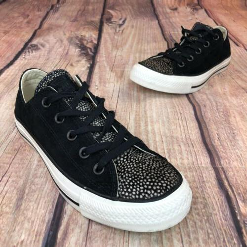 Converse OX Shoes Size 6 Suede/ Fur NEW