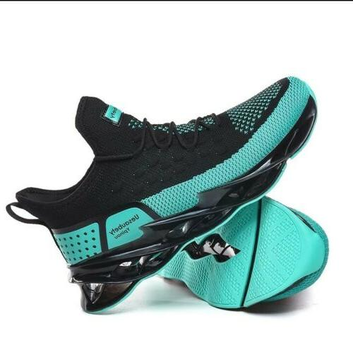 men running shoes blade cushioning sole breathable