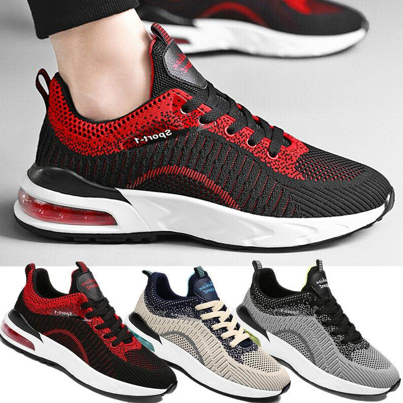men s cushion sneakers breathable sports athletic