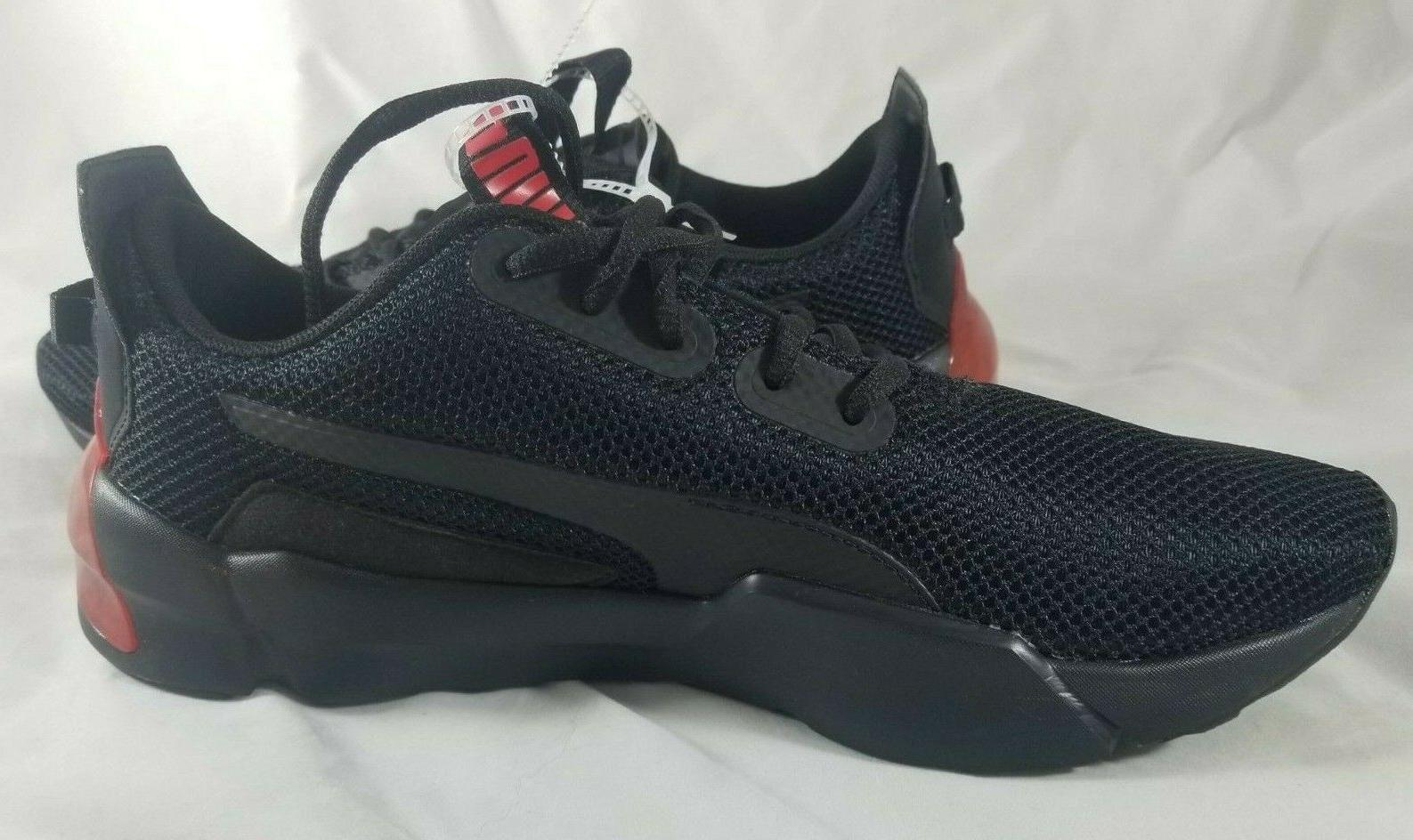 NEW Phase Men's Sneakers Black Red Sz