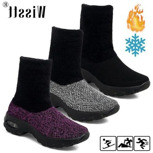 women s sport air cushion sneakers fur