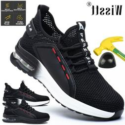 Mens Steel Toe Breathable Safety Shoes Work Boots Sports Hik