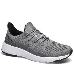 Men's Gray Shoes Sneakers Casual Athletic Breathable Urban F