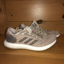 Adidas Men's PureBoost Clima B37778 Pale Nude and White Runn