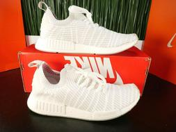 Adidas NMD R1 STLT Primeknit Cloud White Mens Running Shoes