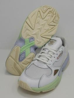 ADIDAS Originals Falcon Running Shoes White/Green Womens Siz