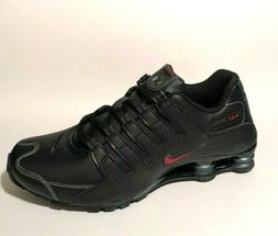 Nike Shox NZ Mens Running Shoes Black Varsity Red 378341-017