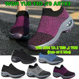 Women's Air-Cushion Sport Running Shoes Breathable Mesh Walk