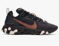 Women's Nike React Element 55 Running Shoes CT1186 001 Oil G